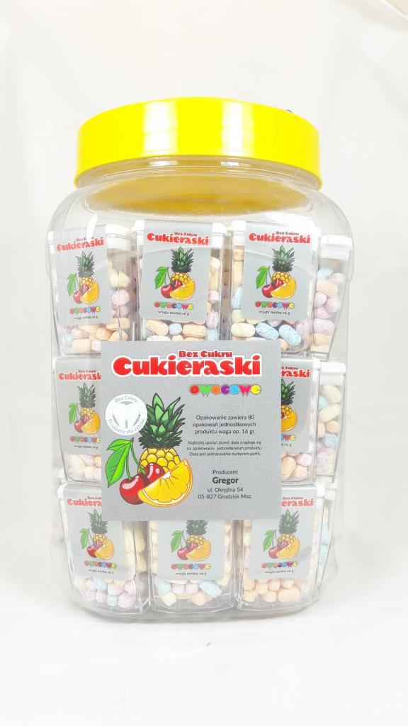 dbf4485dc818fd Cukieraski owocowe 16g ! - CUKIERKI BEZ CUKRU / 80 ( DATA 05.2019 )